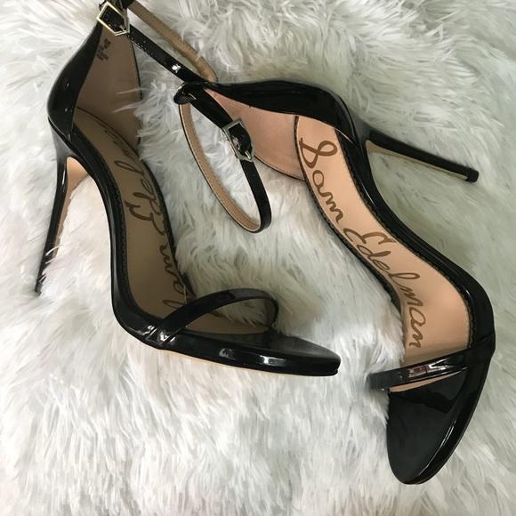 d05593fa40784 Sam Edelman Shoes   Ariella Black Patent Heels   Poshmark